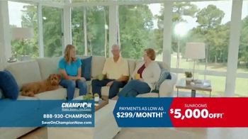 Champion Windows Sunroom TV Spot, 'Season of Change'