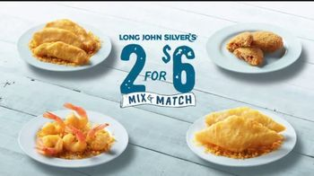 Long John Silver's 2 for $6 Mix & Match TV Spot, 'No Tough Choices'