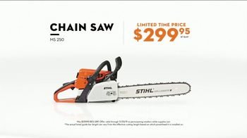 STIHL TV Spot, 'Real Stihl: Save $60 and MS 250 Chainsaw for $299'