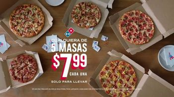 Domino's Large 3-Topping Pizza TV Spot, '$7.99 Everything' [Spanish] - Thumbnail 5