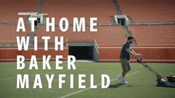 Progressive TV Spot, 'Baker Mayfield Gets a Beverage' Featuring Baker Mayfield, Emily Wilkinson - Thumbnail 2