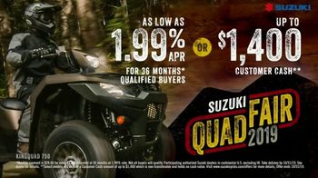 Suzuki Quad Fair Sales Event TV Spot, 'More for Less' - Thumbnail 10