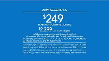 2019 Honda Accord LX TV Spot, 'All by Itself' [T2] - Thumbnail 9