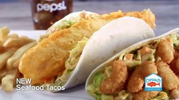 Captain D's Seafood Tacos TV Spot, 'History-Making Tastiness'