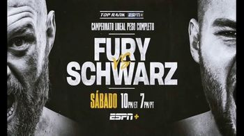 ESPN+ TV Spot, 'Top Rank: Fury vs. Schwarz' Song by Lil Wayne [Spanish]