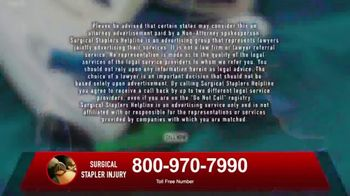 Surgical Staplers Helpline TV Spot, 'Injury' - Thumbnail 10