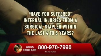 Surgical Staplers Helpline TV Spot, 'Injury'