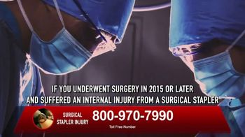 Surgical Staplers Helpline TV Spot, 'Injury' - Thumbnail 9