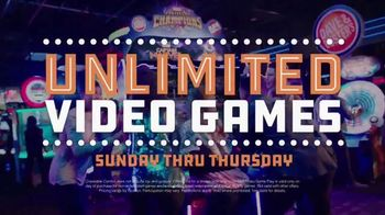 Dave and Buster's All You Can Play for $8 TV Spot, 'Craveable Combos'