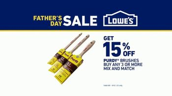 Lowe's Father's Day Sale TV Spot, 'Paint It Right: Purdy Brushes' - Thumbnail 8