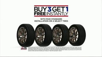 Tire Kingdom TV Spot, 'Buy Three Get One Free: $70 Mail-In Rebate'