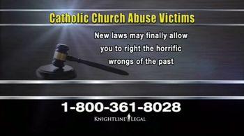 Knightline Legal TV Spot, 'Catholic Church Abuse'