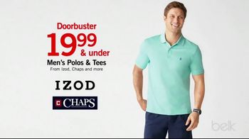 Belk Biggest One Day Sale TV Spot, 'Doorbusters: Men's Polos and Tees' - Thumbnail 5