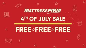 Mattress Firm 4th of July Sale TV Spot, 'Free Free Free' - Thumbnail 2