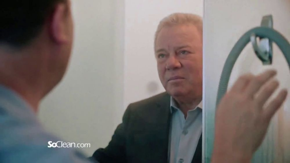 SoClean TV Commercial, 'Bill in the Bathroom' Featuring William Shatner -  Video
