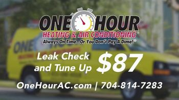One Hour Heating & Air Conditioning  TV Spot, 'Leak Check and Tune Up'