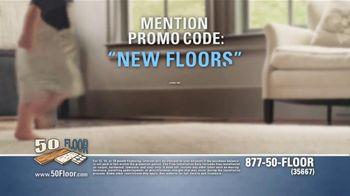 50 Floor 60 Percent Off Sale TV Spot, 'Tired Floors: Save' Featuring Richard Karn - Thumbnail 6
