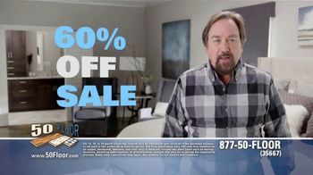 50 Floor 60 Percent Off Sale TV Spot, 'Tired Floors: Save' Featuring Richard Karn - 7 commercial airings