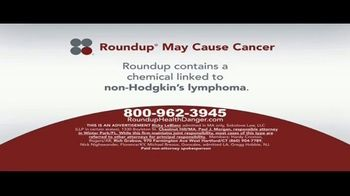 Sokolove Law TV Spot, 'Roundup May Cause Cancer' - Thumbnail 1