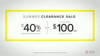 Value City Furniture Summer Clearance Sale TV Spot, 'Unbelievable Savings' - Thumbnail 8