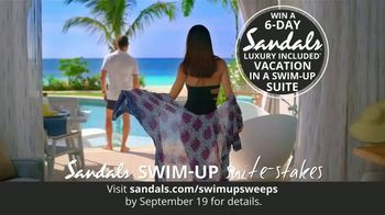 Sandals Resorts Swim-Up Suite-Stakes TV Spot, 'Luxury Included Vacation'