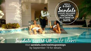 Sandals Resorts Swim-Up Suite-Stakes TV Spot, 'Luxury Included Vacation' - Thumbnail 3