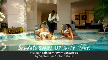 Sandals Resorts Swim-Up Suite-Stakes TV Spot, 'Luxury Included Vacation' - Thumbnail 4