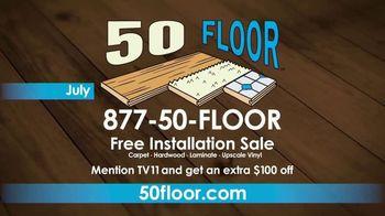 50 Floor TV Spot, 'CBS 11: Free Installation' - Thumbnail 10