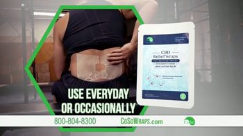 CoSo CBD Relief Wraps TV Spot, 'Targeted Relief' - Thumbnail 7