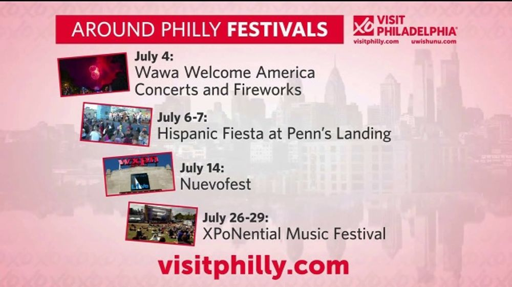 Visit Philadelphia TV Commercial, 'Around Philly Festivals: July' - Video