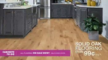 Cabinets To Go TV Spot, 'All Flooring on Sale'