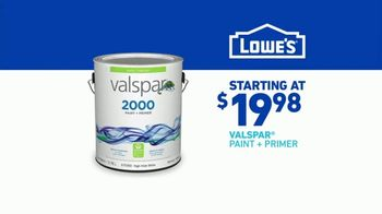 Lowe's TV Spot, 'Step One to Step Done: Valspar Paint + Primer' - Thumbnail 10