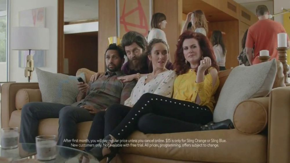 Sling TV Spot, First Timers: Easy: First Month Featuring Nick Offerman, Megan Mullally - Screenshot 6