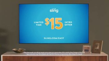 Sling TV Spot, 'First Timers: Easy: First Month' Featuring Nick Offerman, Megan Mullally - Thumbnail 7