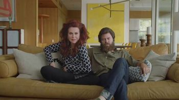 Sling TV Spot, 'First Timers: Easy: First Month' Featuring Nick Offerman, Megan Mullally - Thumbnail 2