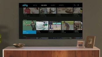 Sling TV Spot, 'First Timers: Easy: First Month' Featuring Nick Offerman, Megan Mullally - Thumbnail 3