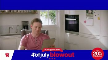Overstock.com 4th of July Blowout TV Spot, 'Table Runner' - Thumbnail 1