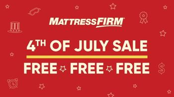 Mattress Firm 4th of July Sale TV Spot, 'Free, Free, Free Event' - Thumbnail 1