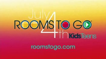 Rooms to Go Kids & Teens TV Spot, 'July 4th Hot Buys: Complete Twin Panel Bed' - Thumbnail 8