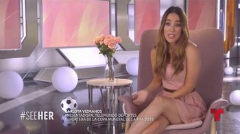 L'Oreal Paris TV Spot, 'Telemundo Deportes: See Her' con Carlota Vizmanos [Spanish] - 7 commercial airings