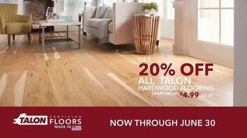 Talon Hardwood Flooring TV Spot, 'Genuine Hardwood: 20 Percent Off'