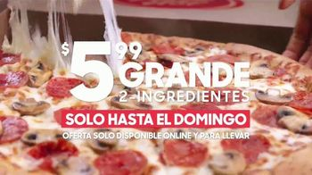 Pizza Hut $5.99 Large 2-Topping Pizza TV Spot, 'Pide pizza' [Spanish] - Thumbnail 5