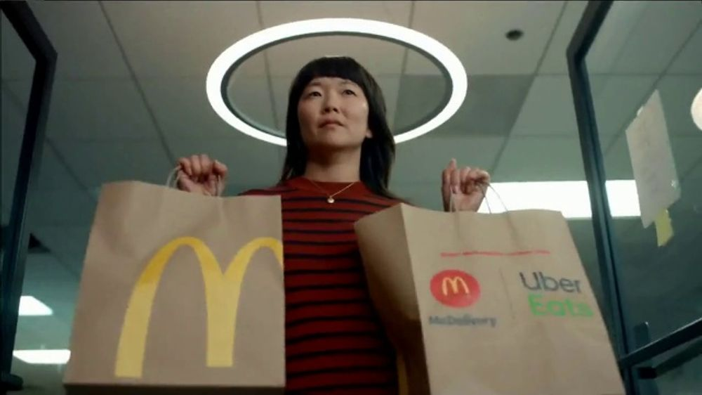 McDonald's + Uber Eats TV Commercial, 'McDelivery Doorbell: $0 Delivery Fee' Song by Della Reese