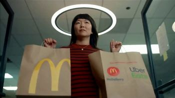 McDonald's + Uber Eats TV Spot, 'McDelivery Doorbell: $0 Delivery Fee' Song by Della Reese - 99 commercial airings