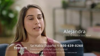 Freedom Debt Relief TV Spot, 'Libre de deudas' [Spanish]
