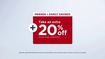 Kohl's Friends + Family Sale TV Spot, 'Tops, Sketchers and Towels' - Thumbnail 3