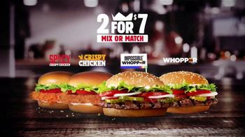 Burger King 2 for $7 TV Spot, 'Mix or Match: Impossible Whopper' - Thumbnail 9
