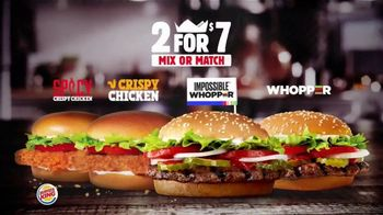 Burger King 2 for $7 TV Spot, 'Mix or Match: Impossible Whopper' - Thumbnail 2