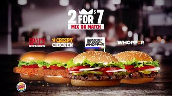 Burger King 2 for $7 TV Spot, 'Mix or Match: Impossible Whopper' - Thumbnail 3