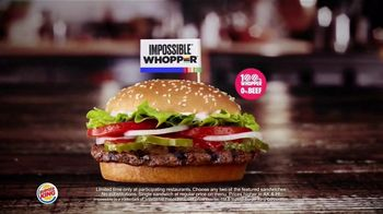 Burger King 2 for $7 TV Spot, 'Mix or Match: Impossible Whopper' - Thumbnail 5